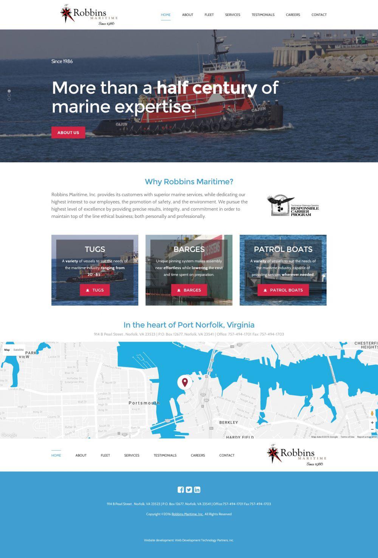 Robbins Maritime Website