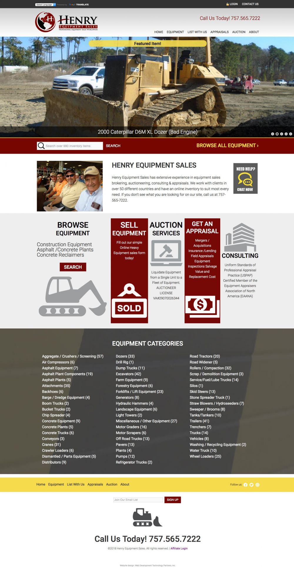 Henry Equipment Sales