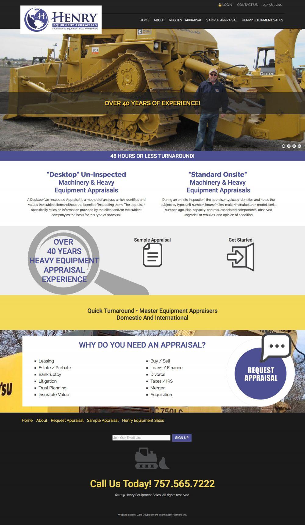 Henry Equipment Appraisals
