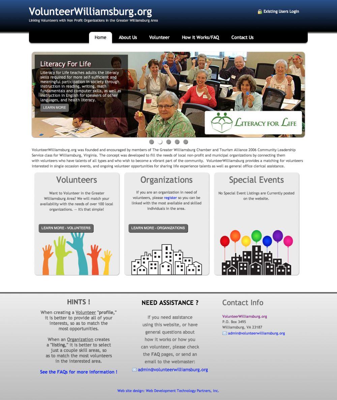 VolunteerWilliamsburg.org