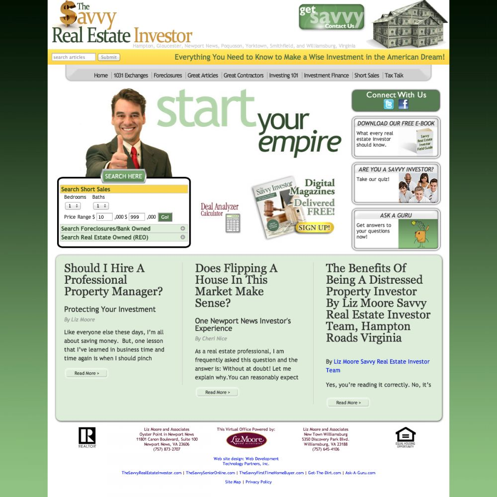 The Savvy Real Estate Investor