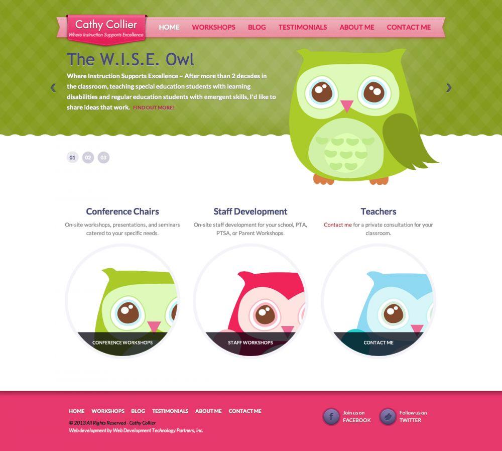 CathyCollier.com - The W.I.S.E. Owl