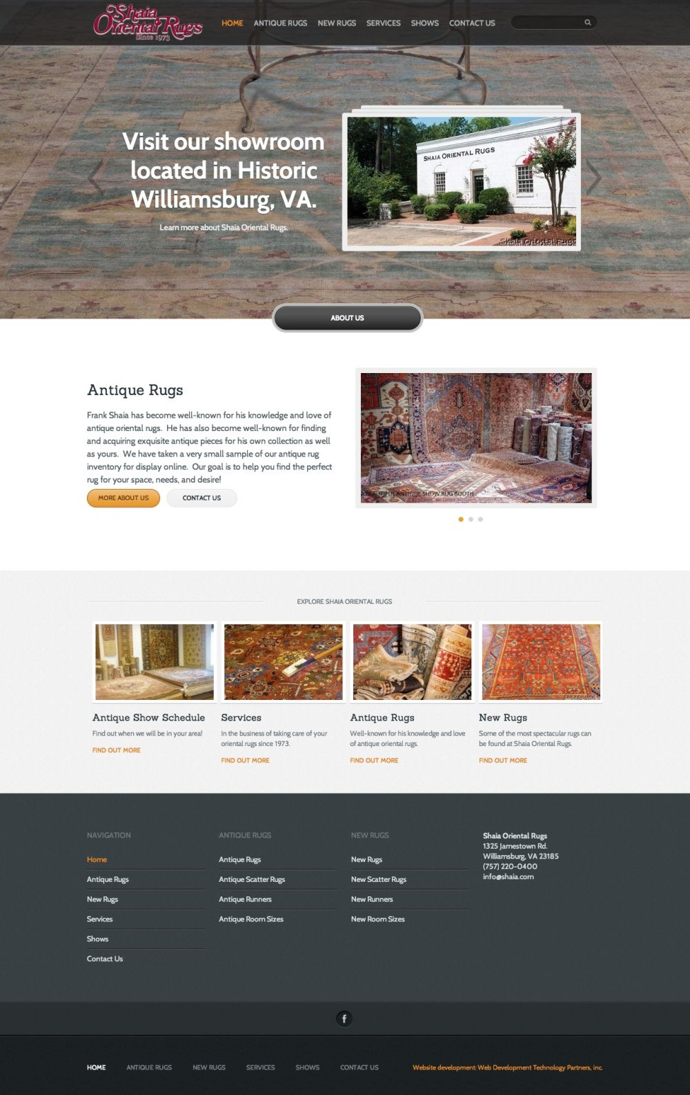 Shaia Oriental Rugs Website