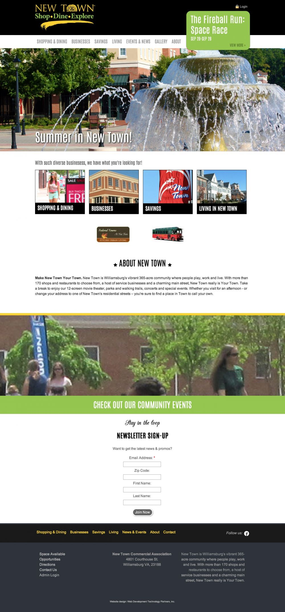 New Town 2015 Redesign